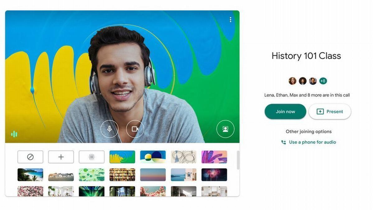 google meet custom backgrounds