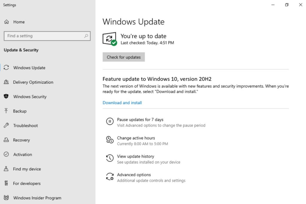 Microsoft's next Windows 10 20H2 release will be a minor update